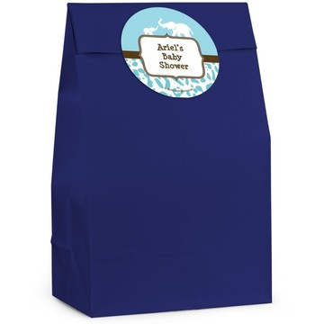 Wild Safari Blue Personalized Favor Bag (Set Of 12)