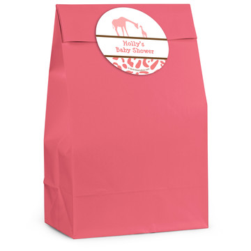 Wild Safari Pink Personalized Favor Bag (12 Pack)