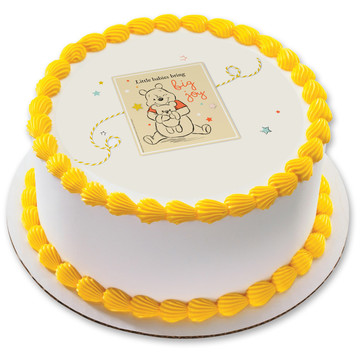 "Winnie the Pooh Baby Joy 7.5"" Round Edible Cake Topper (Each)"