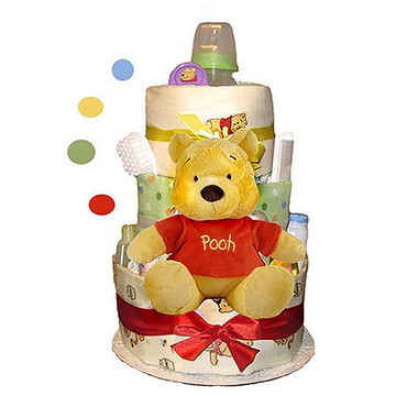 Winnie The Pooh Diaper Cake (3 Tier)