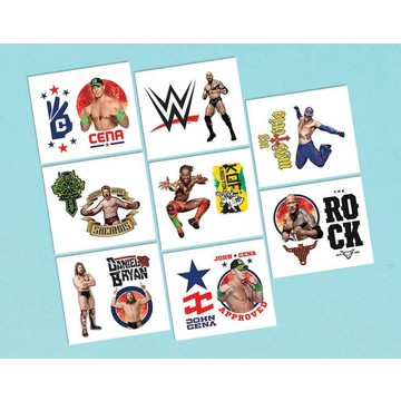 "WWE 2"" Tattoo Favors (16 Pack)"