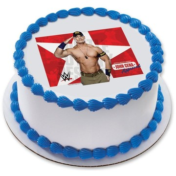 "WWE John Cena 7.5"" Round Edible Cake Topper (Each)"