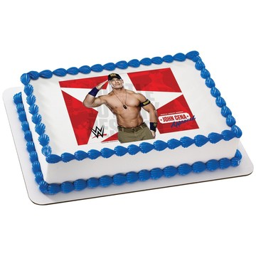WWE John Cena Quarter Sheet Edible Cake Topper (Each)