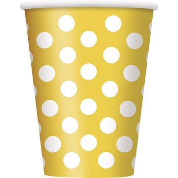 Yellow Dots 12oz Cups (6 Pack)