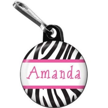 Zebra Party Personalized Mini Zipper Pull (each)