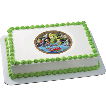 Zelda Quarter Sheet Edible Cake Topper (Each)